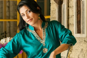 green silk blouse ethical fashion