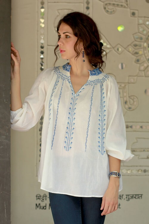 Womens ethically made blouses - Handcrafted by Novica artisans